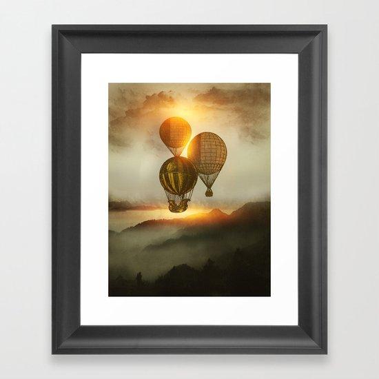 A Trip down the Sunset Framed Art Print