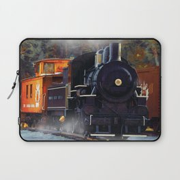 The Rail Yard  -  Steam Train Laptop Sleeve