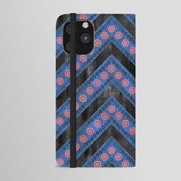 Bali Bali Chevron Blue iPhone Wallet Case