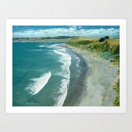 Raglan beach, New Zealand Art Print