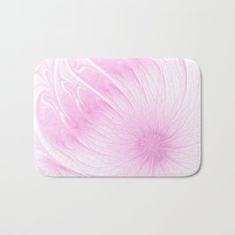 Pink Spring | Flower, abstract digital painting, cute floral pattern, pretty pastel flowers Bath Mat