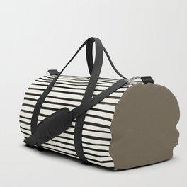 Cappuccino x Stripes Duffle Bag