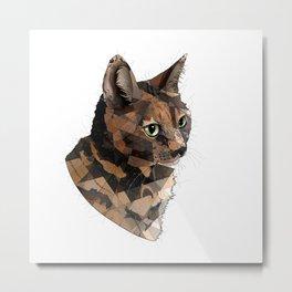 Goose the Cat Metal Print