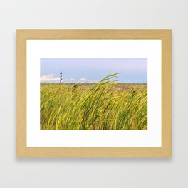 Lighthouse in the Distance Framed Art Print