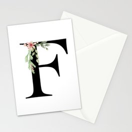 Botanical F Stationery Cards