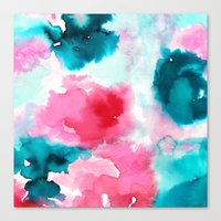 water color Canvas Prints featuring Water color by moniquilla