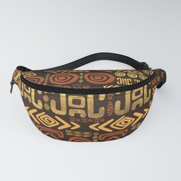 Ethnic African Pattern- browns and golds #11 Fanny Pack