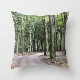 trees in national park in holland Throw Pillow