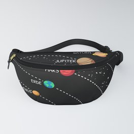 Solar System In A Row Fanny Pack