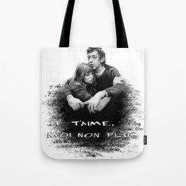 Je t'aime - Jane Birkin & Serge Gainsbourg Tote Bag