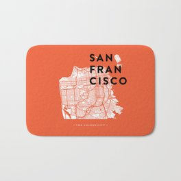 San Francisco Map 04 Bath Mat