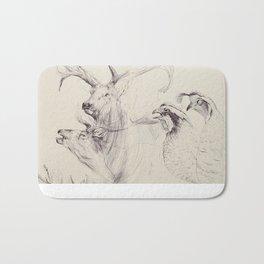Elk & Quail Bath Mat