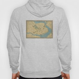 Vintage Map of Boston MA (1890) Hoody