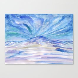 Winter landscape with clouds Canvas Print