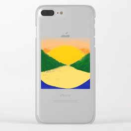 Setting Sun Along The Lake (Coloured) Clear iPhone Case