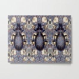 Beetles and Pimpernel Metal Print
