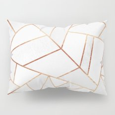 White Stone & Copper Lines Pillow Sham