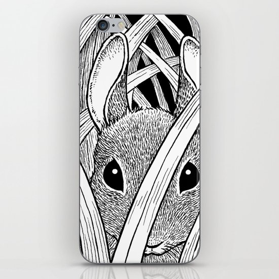 Bunny in the Grass iPhone & iPod Skin