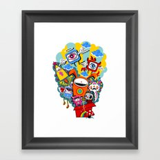 Polypop The Box Framed Art Print