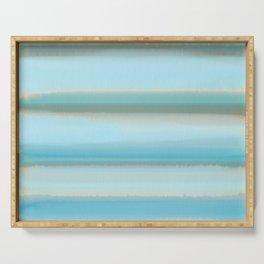 Blue sky aquarelle Serving Tray