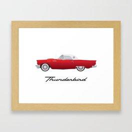 1957 Thunderbird Framed Art Print