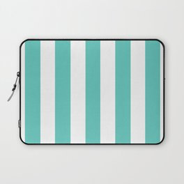 Bayside - solid color - white vertical lines pattern Laptop Sleeve