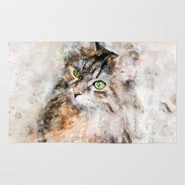 Duchess Watercolor Cat Rug