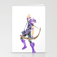 clint barton Stationery Cards featuring Clint Barton by Tegan New