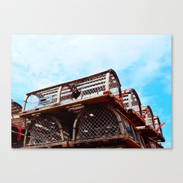 Lobster Trap Stack Canvas Print