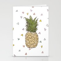 pinapple Stationery Cards featuring Pinapple by surfed