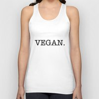vegan Tank Tops featuring VEGAN. by Word