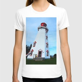 Panmure Island Lighthouse and Boat T-shirt