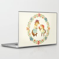 otters Laptop & iPad Skins featuring Otterly Grateful by Teagan White
