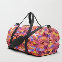 Abstract Red 001 Duffle Bag