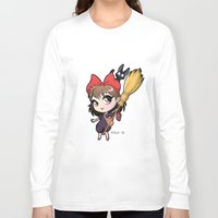 kiki Long Sleeve T-shirts featuring Chibi Kiki by Warbunny