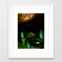 ohm Framed Art Prints featuring OHM by Angelica Gonzalez Donaire