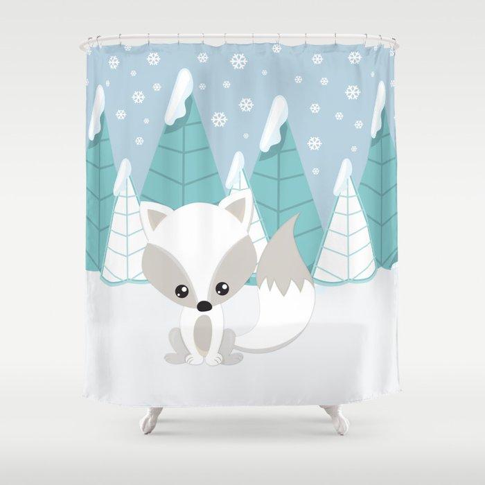 ARCTIC LANDSCAPE Shower Curtain