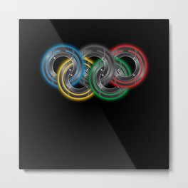 Olympic Disc Rings Metal Print