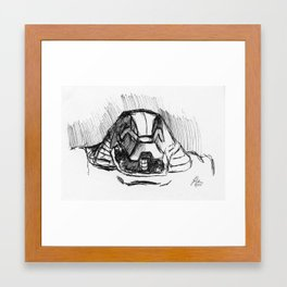 Warbot Sketch #048 Framed Art Print