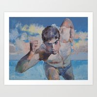 runner Art Prints featuring Runner by Michael Creese
