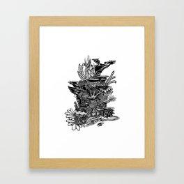 Coral Tower Framed Art Print