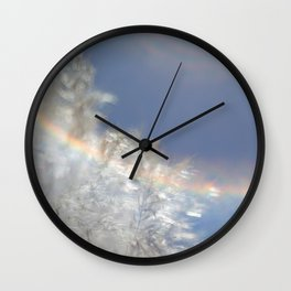 Wispy with rainbow flare Wall Clock