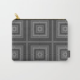 Black gray ethnic pattern . 1 Carry-All Pouch