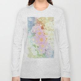 Pink Sorbet Chamomile Flowers Long Sleeve T-shirt