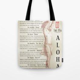 Aloha [Finding your Purpose] vintage art print Tote Bag