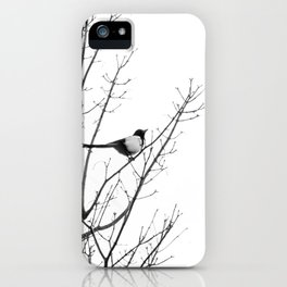 Magpie in the trees iPhone Case
