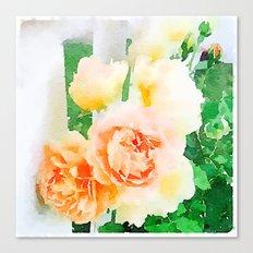 Cottage Roses Canvas Print