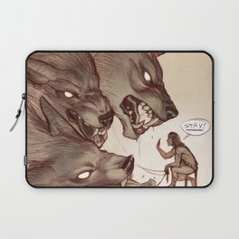 Taking the Dog for a Walk Laptop Sleeve