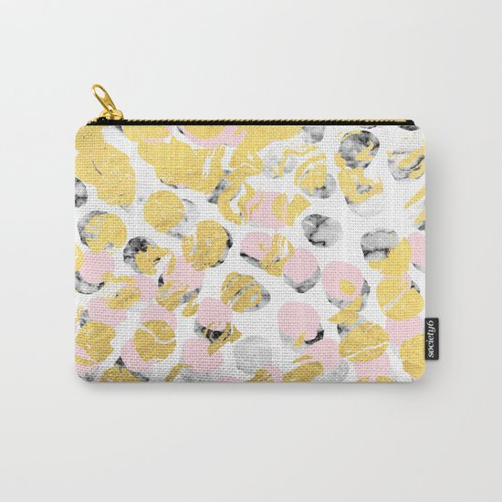 Stellan - Rose Marble Gold abstract art painting modern minimal love rosequartz pastel pink dorm Carry-All Pouch