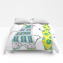 Wavy House n Tree Comforters